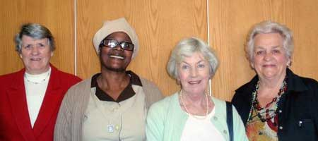 Left to Right: Frances James, Elizabeth Manyundwa, Ena Hayes, Pat Erasmus